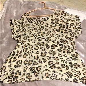 Sheer leopard print top